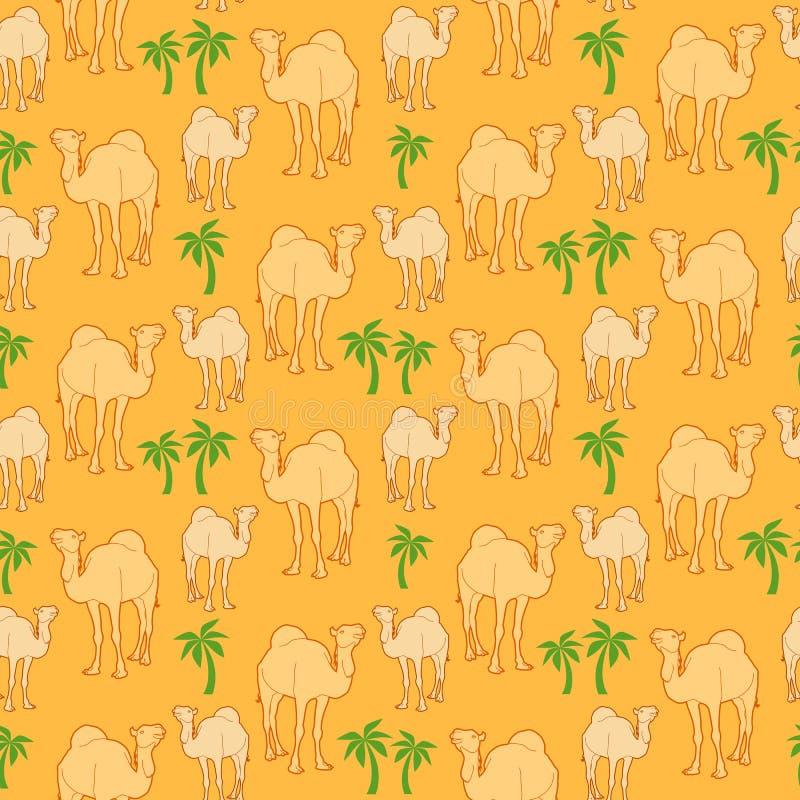 Camel pattern stock illustration