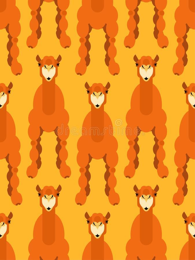 Camel pattern seamless. Animal UAE. Beast of desert background. stock illustration