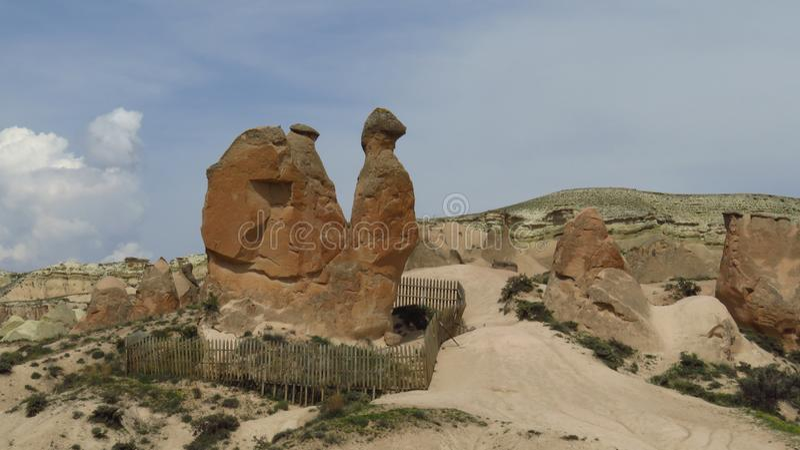 Camel Rock Formation in Devrent, Imaginary Valley, Cappadocia stock images