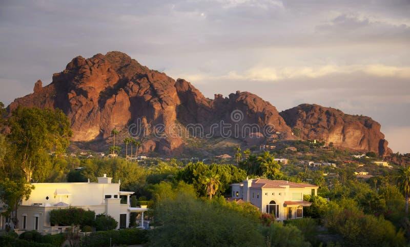 Camelback Berg in Scottsdale, Arizona stockbild