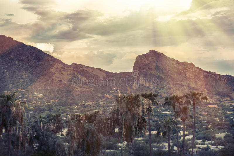 Camelbackberg, Phoenix, AZ royalty-vrije stock fotografie