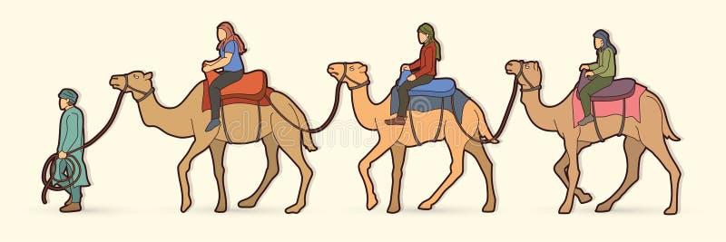 Cameleer с графиком мультфильма верблюдов иллюстрация вектора