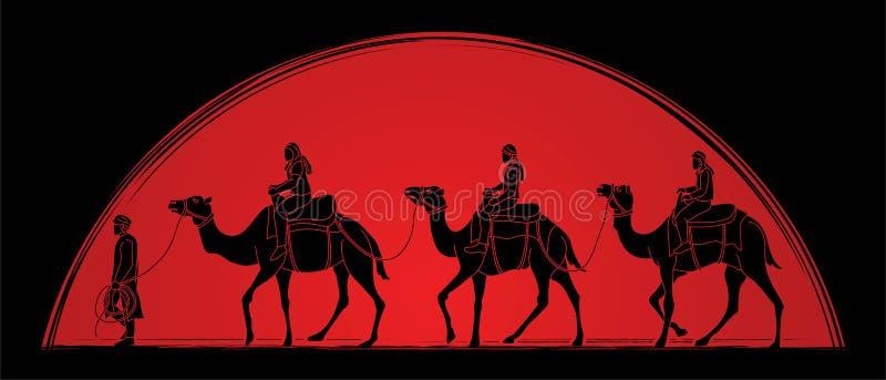 Cameleer с графиком мультфильма верблюдов бесплатная иллюстрация