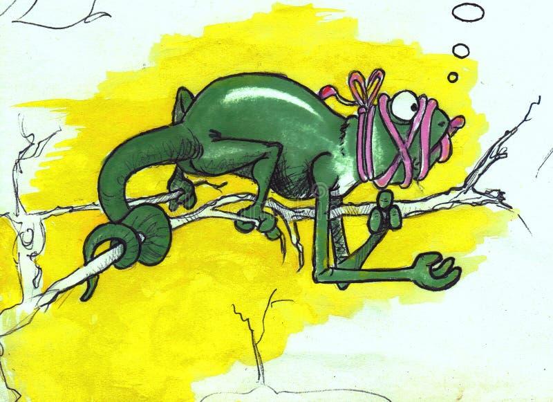 Camelion illustration de vecteur