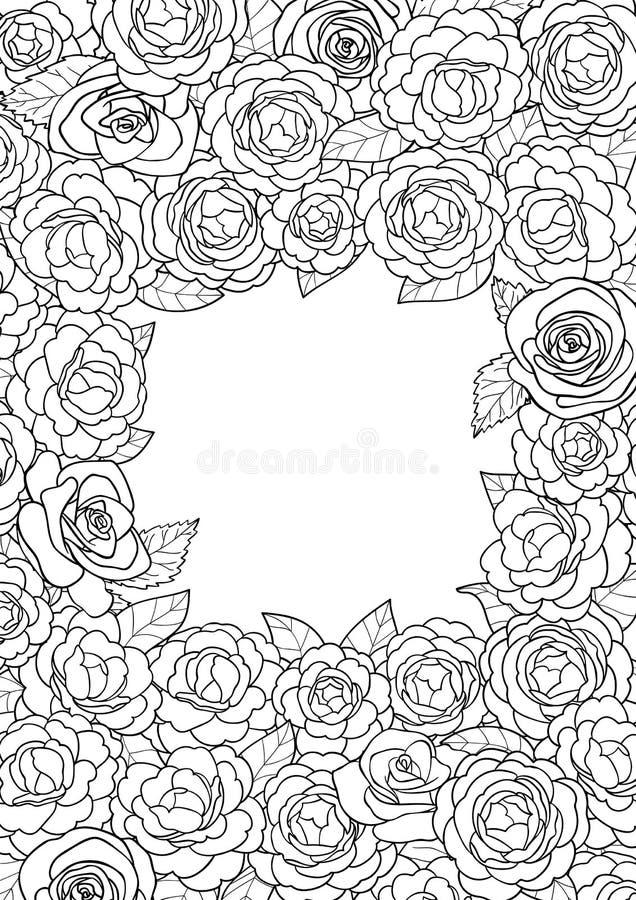 Camellia Square Frame vector illustratie