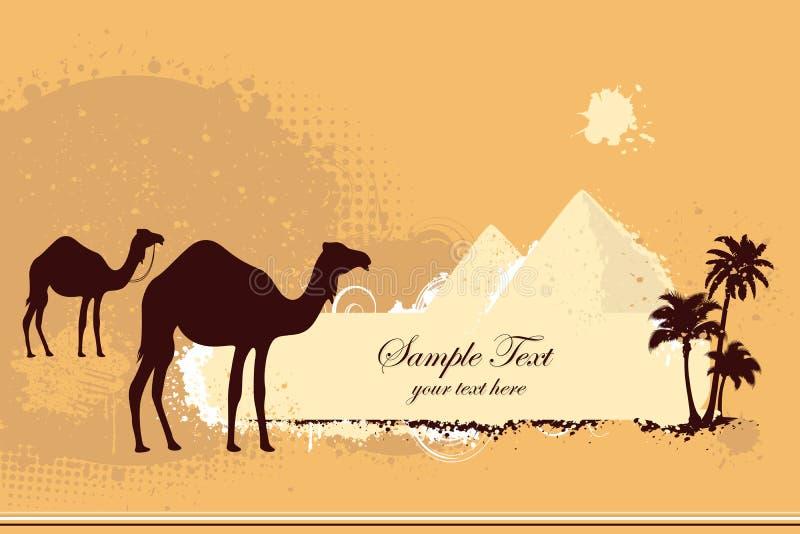 Camello en desierto libre illustration