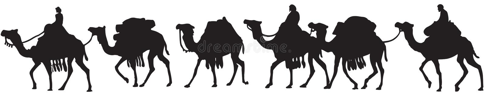 Camels royalty free illustration