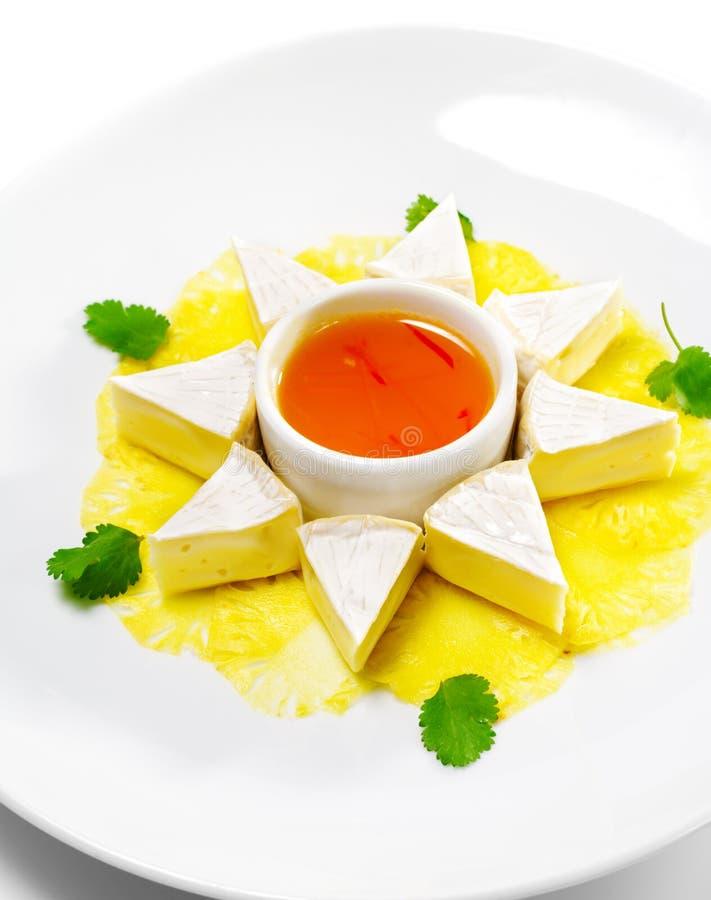 camembert ορεκτικών ανανάς carpaccio στοκ εικόνα με δικαίωμα ελεύθερης χρήσης