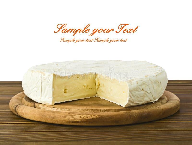 Camembert cheese. Camembert cheese slice macro shot. Shallow DOF stock photos