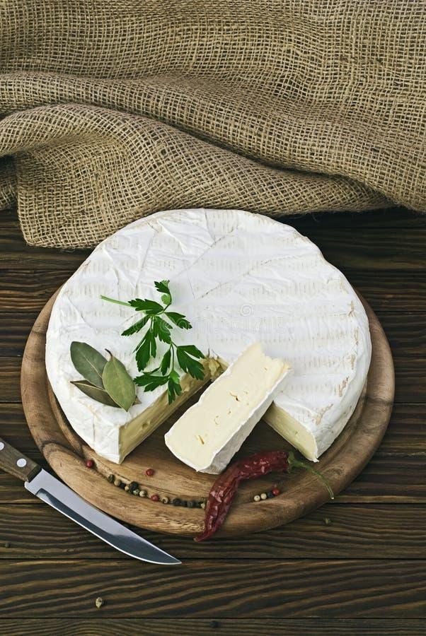 Camembert cheese. Slice macro shot. Shallow DOF royalty free stock photography