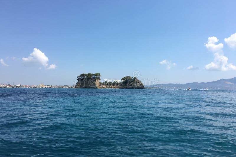 Cameo Island Laganas, Zante, Zakynthos, Grecja, Luxury Destination Aerial zdjęcie stock