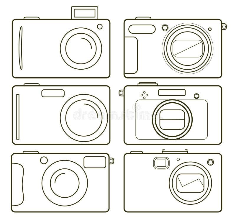 Camer de los iconos libre illustration