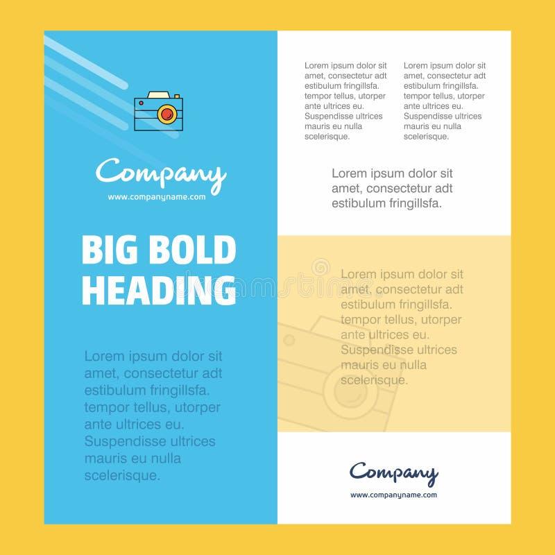 Camera πρότυπο Business Company αφισών με τη θέση για το κείμενο και τις εικόνες Διανυσματική ανασκόπηση διανυσματική απεικόνιση