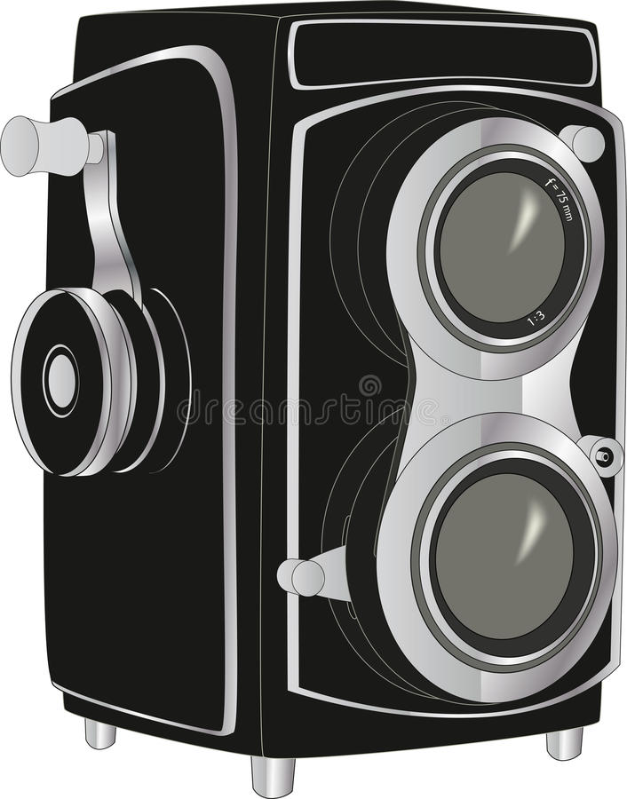 Camera. Old optical paparazzi photo royalty free illustration