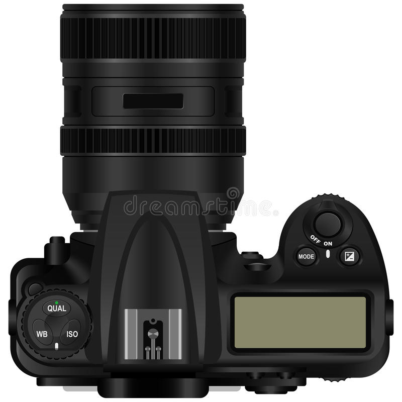 Camera. Layered vector illustration of a digital SLR camera royalty free illustration