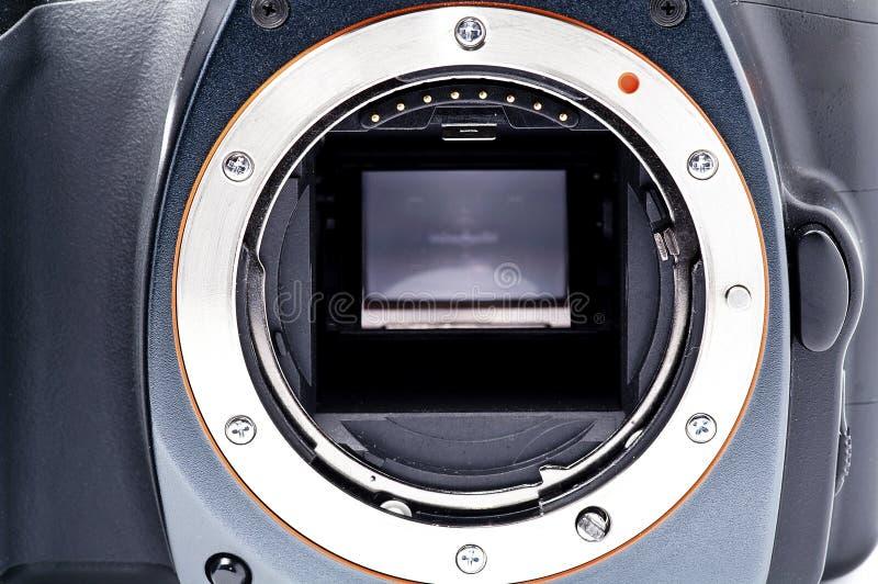 Camera. Sony Alpha 100 DSLR Camera royalty free stock photography