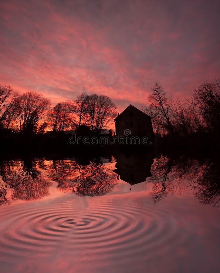 Camera al tramonto immagine stock