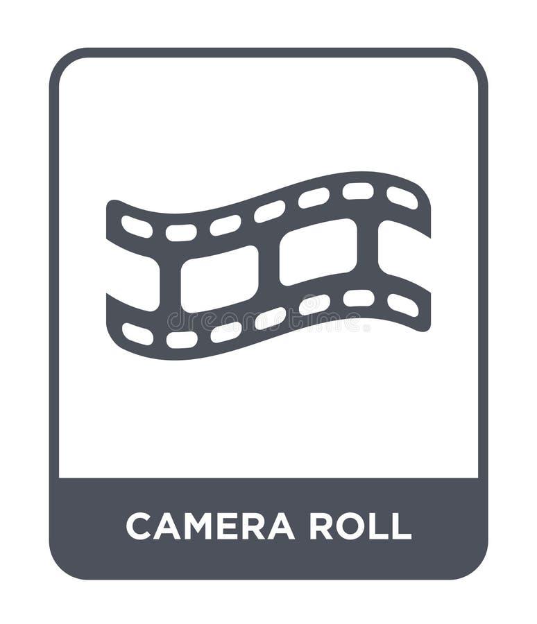 camera-albumpictogram in in ontwerpstijl camera-albumpictogram dat op witte achtergrond wordt geïsoleerd eenvoudig en modern came royalty-vrije illustratie