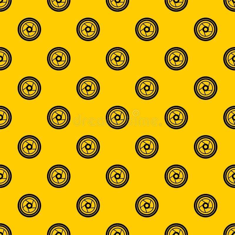 Camera aperture pattern vector stock illustration