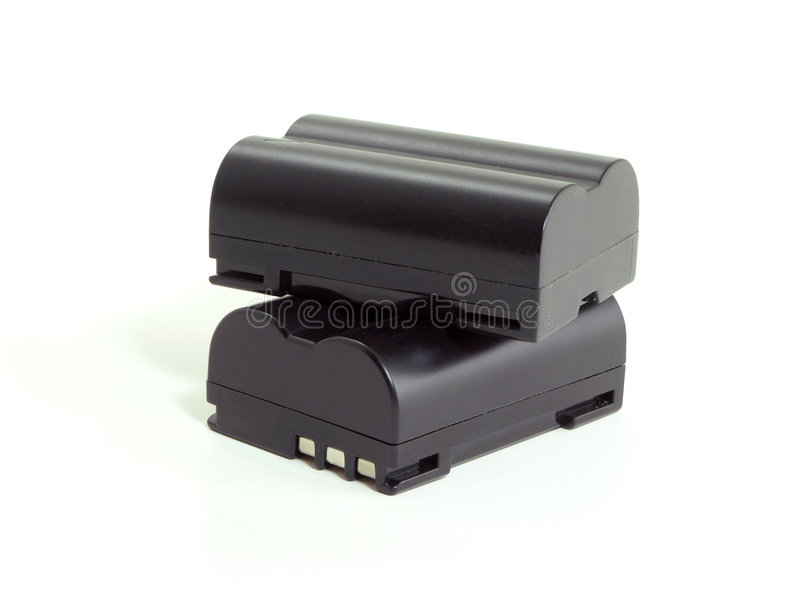 Camera Batteries stock image