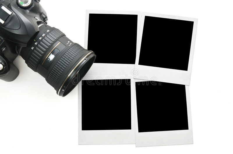 Download Camera With Blank Polaroid Frames Stock Image - Image: 6707207