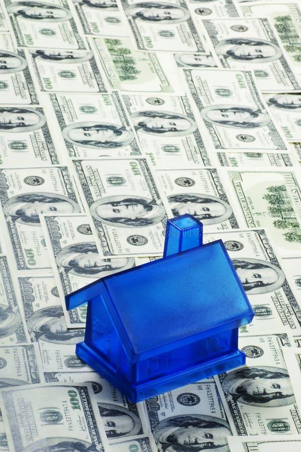 Camera blu dei soldi fotografia stock