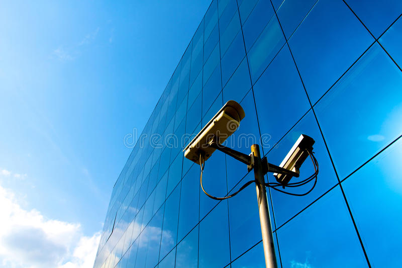Camera blue office royalty free stock images