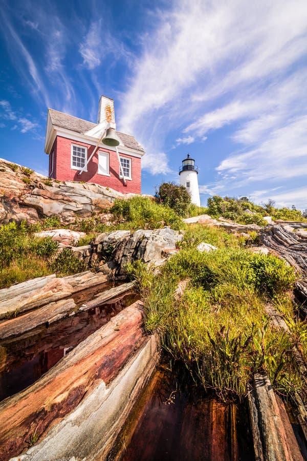 Camera in Bristol, Maine del ` s del faro e del custode del punto di Pemaquid fotografia stock libera da diritti