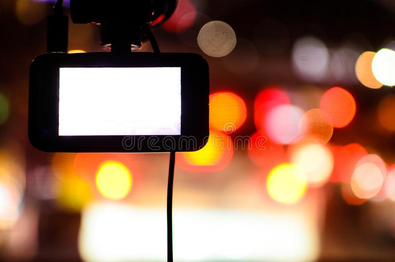 The Camera in Car. royalty free stock images