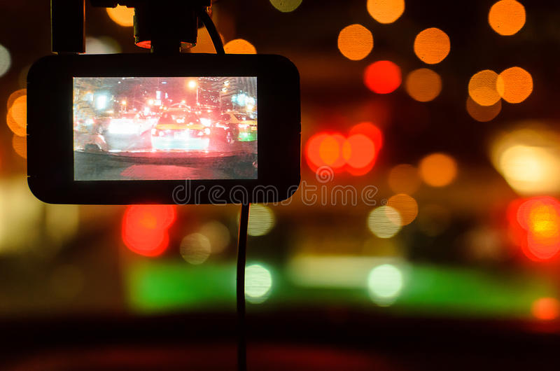 The Camera in Car. stock photos