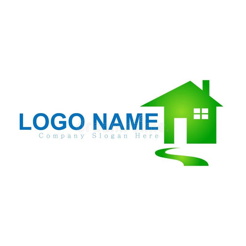 Camera, casa, bene immobile, logo, icona blu della costruzione di aumento di simbolo di architettura per la vostra societ? royalty illustrazione gratis