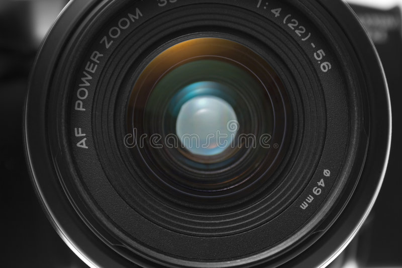 camera closeup front l view στοκ εικόνα