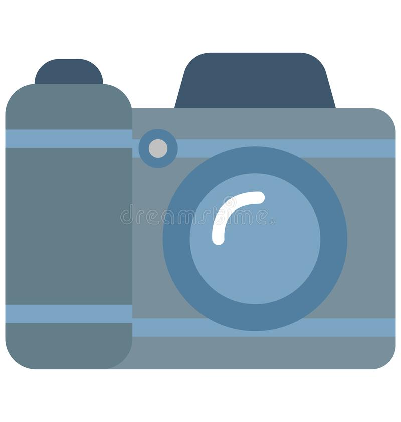 Camera Color Vector Isolated Icon Editable. NCamera Color Vector Isolated Icon Editable nnn royalty free illustration