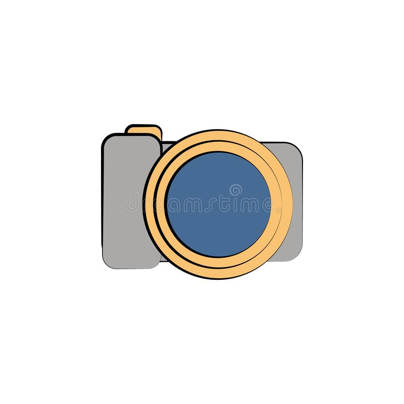 camera colored icon. Element of birthday icon for mobile concept and web apps. Color camera icon can be used for web and mobile stock illustration