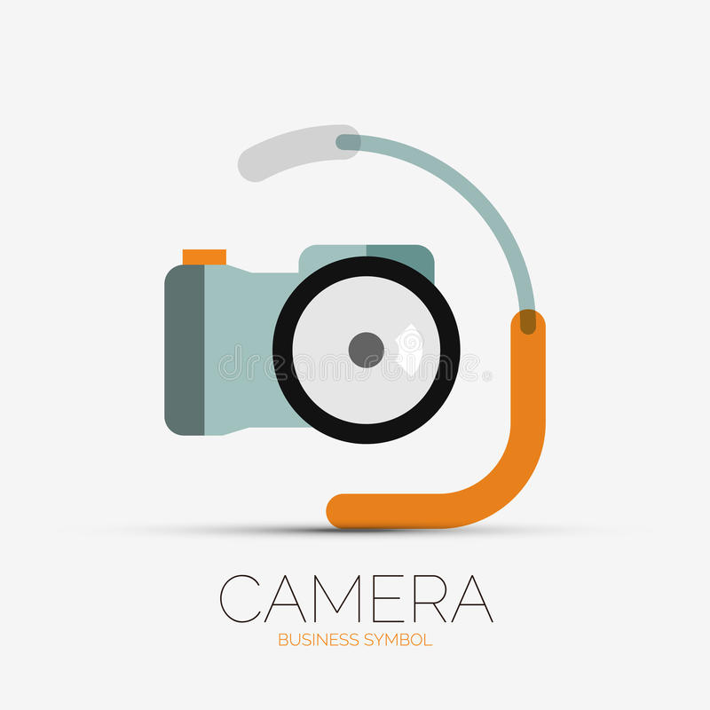 Camera company logo minimal design stock vector image for Camera minimal