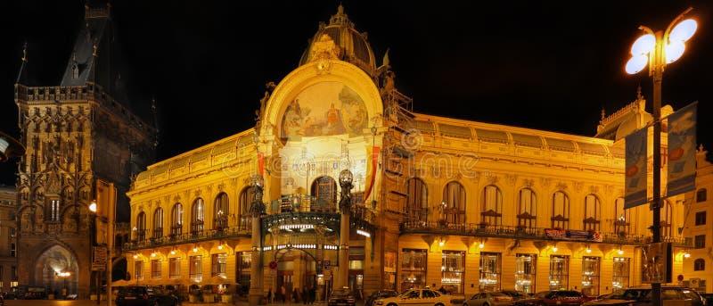 Camera comunale, Praga. (Panorama) immagine stock