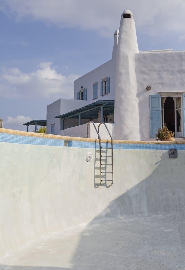 Camera con la piscina vuota Immagine di riserva fotografie stock libere da diritti