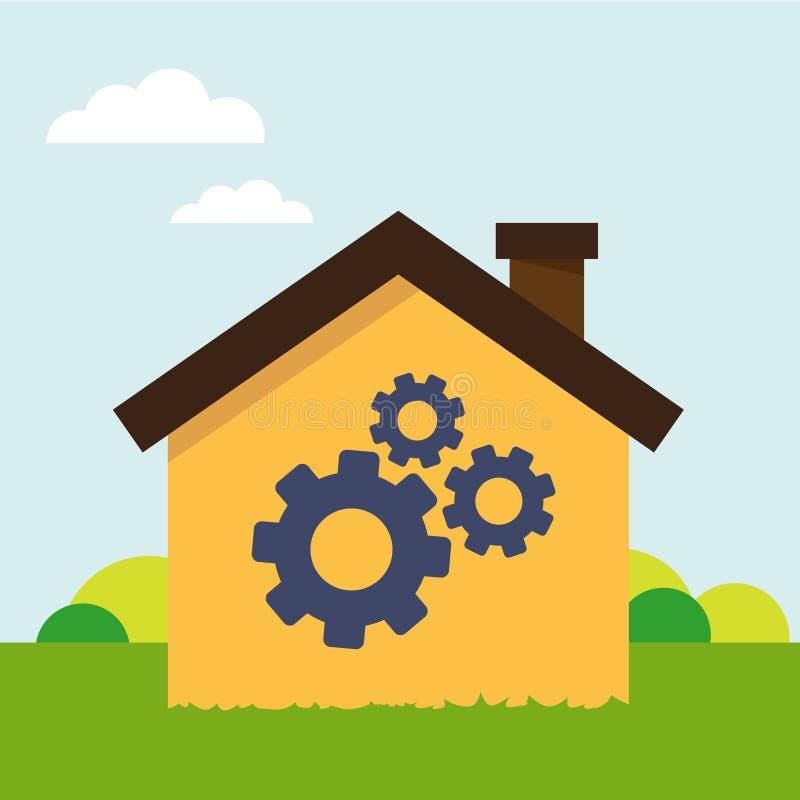 Camera con lo strumento illustrazione vettoriale for Concetto casa com