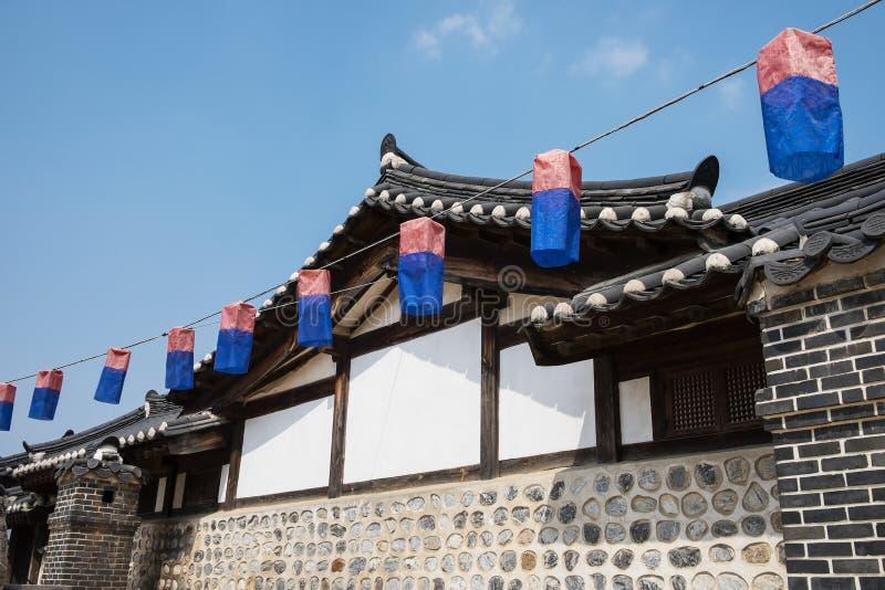 Camera Corea di Hanok immagini stock