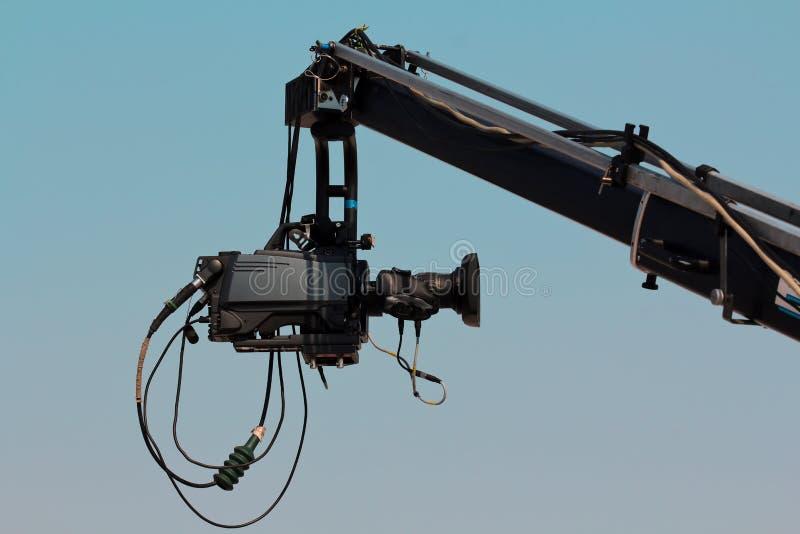 Camera On Crane Royalty Free Stock Photo