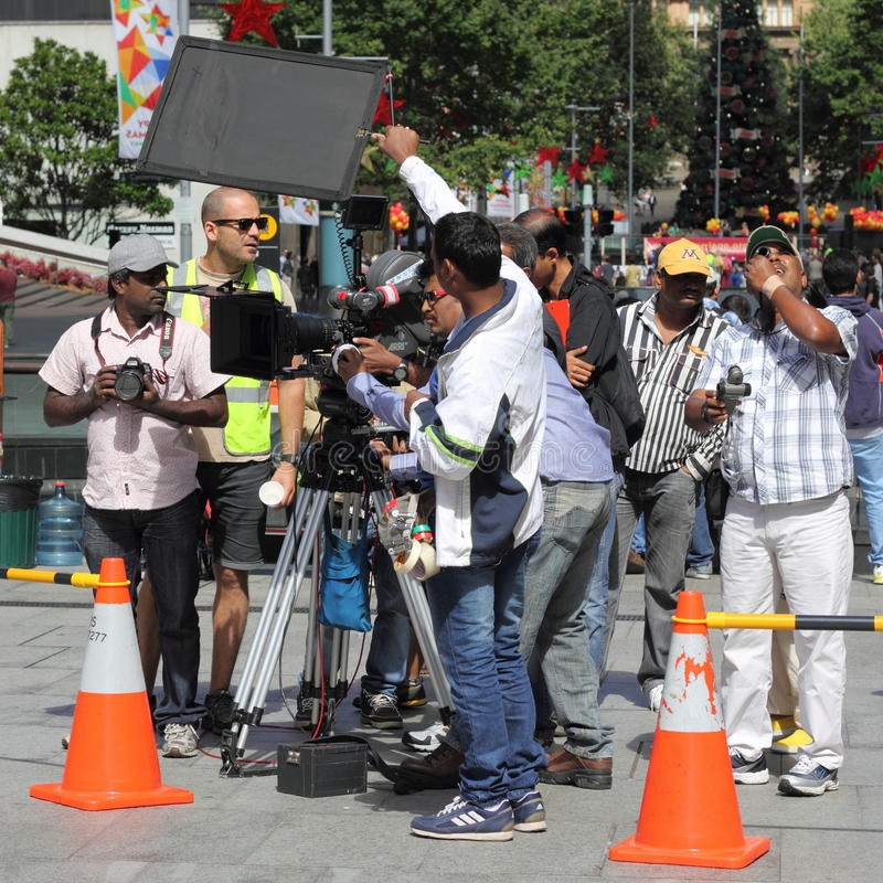 Download Camera crew in action editorial photography. Image of concentration - 22295872
