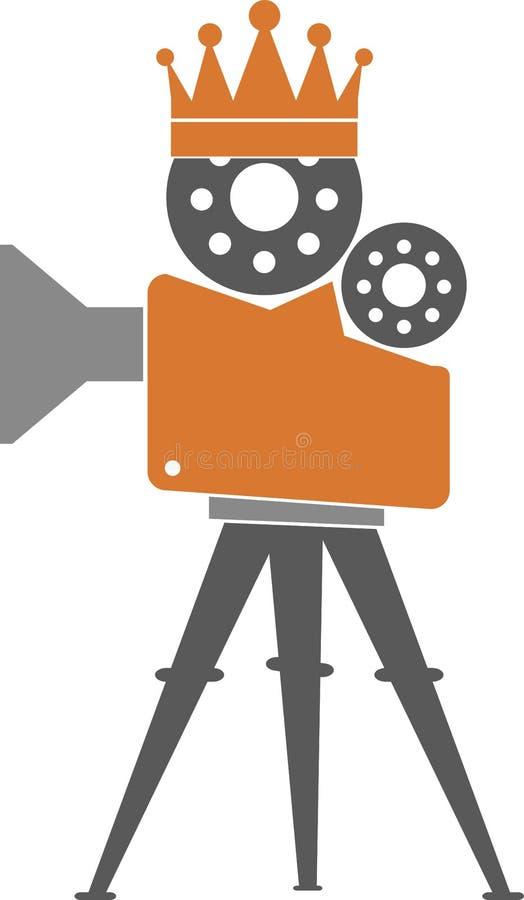 Camera crown logo stock illustration