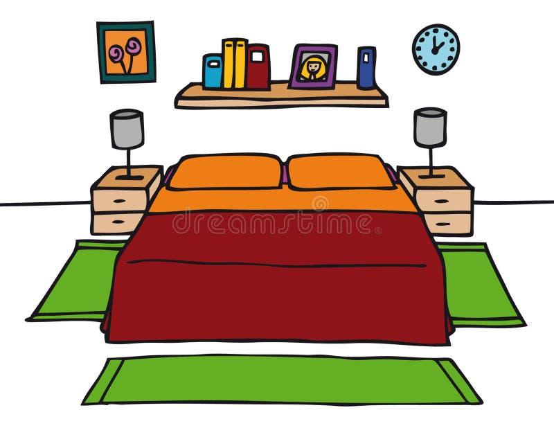 Camera da letto illustrazione vettoriale