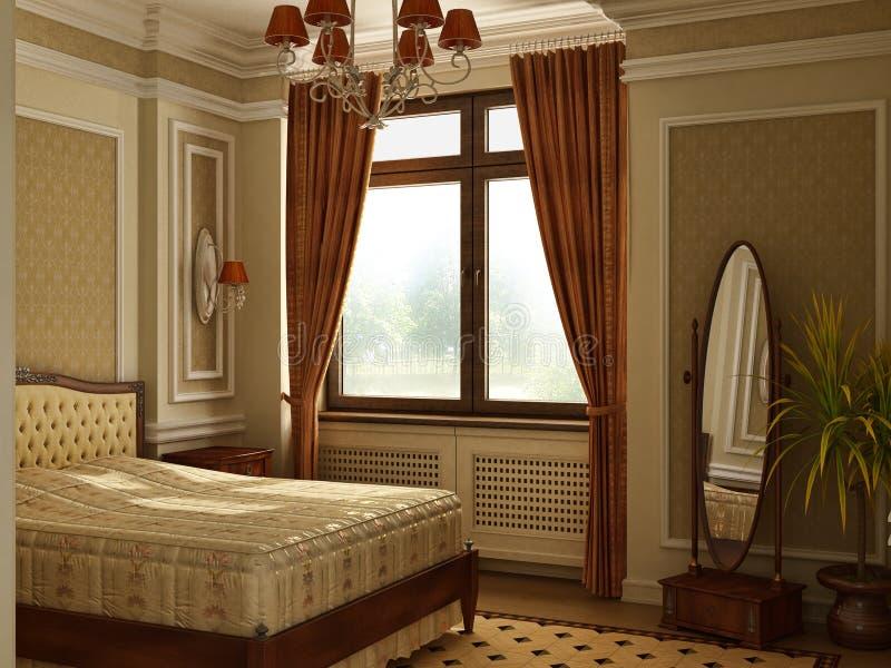 Camera Da Letto Antica Classica Di Stile. Illustrazione di Stock ...