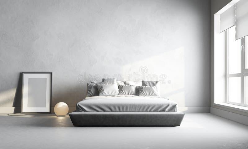 Camera da letto bianca immagini stock