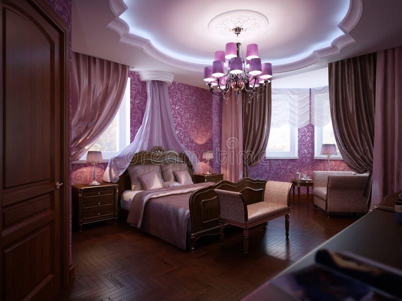 Camera da letto classica immagine stock