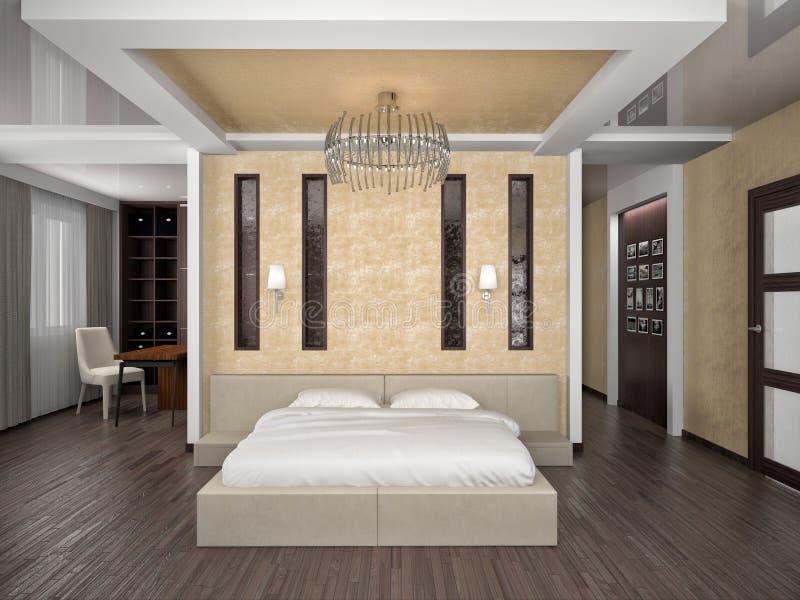 Camera da letto 3D royalty illustrazione gratis