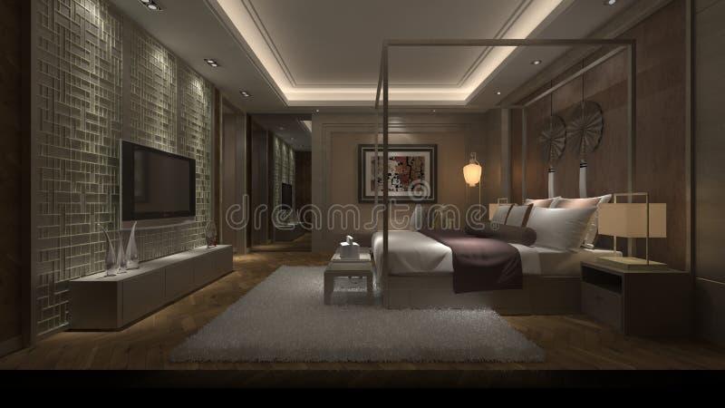 camera da letto 3d immagini stock