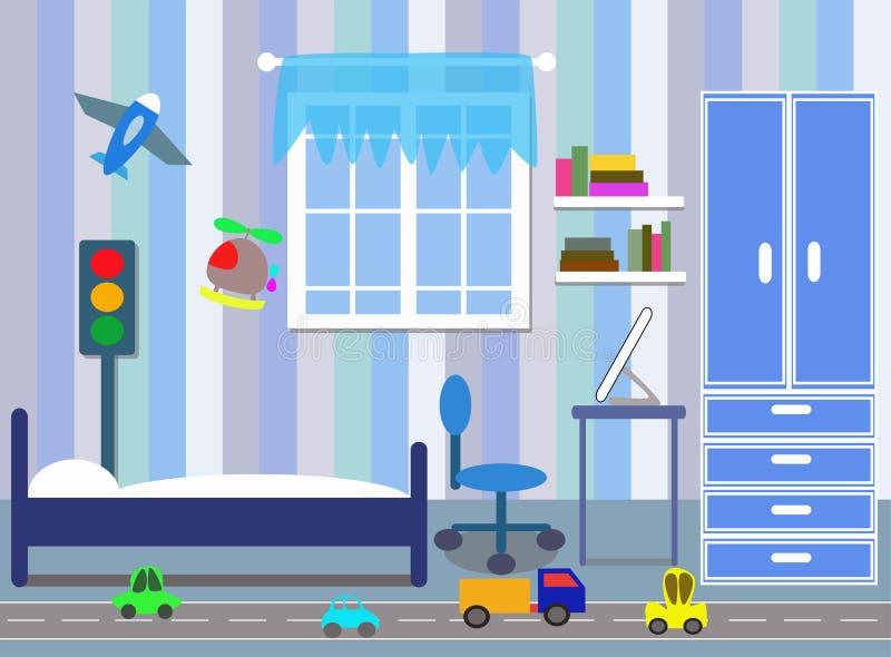 Camera da letto dei ragazzi royalty illustrazione gratis