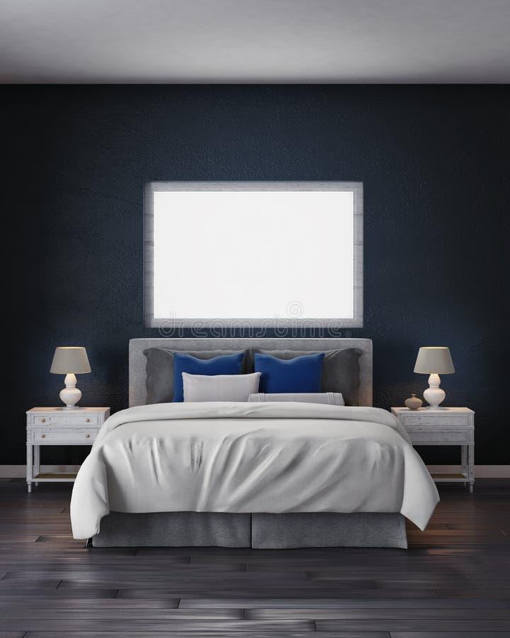 camera da letto della rappresentazione 3d fotografie stock libere da diritti